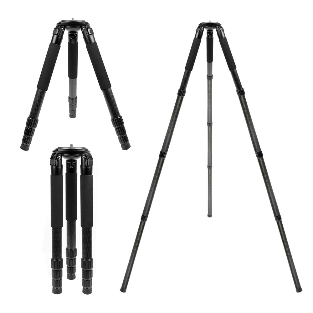 Professional Stable Photography Bird Watching Carbon Fiber Tripod for Digital Camera Video Camcorder Stand Holder Accessories