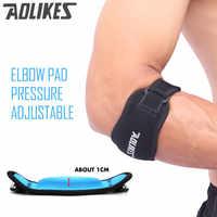 AOLIKES 1 PCS Aptidão Pad Cotovelo Badminton Tênis Coderas Muscular Das Mulheres Dos Homens Ajustáveis Esportes Seguro de Proteção Pressurizada Apoio