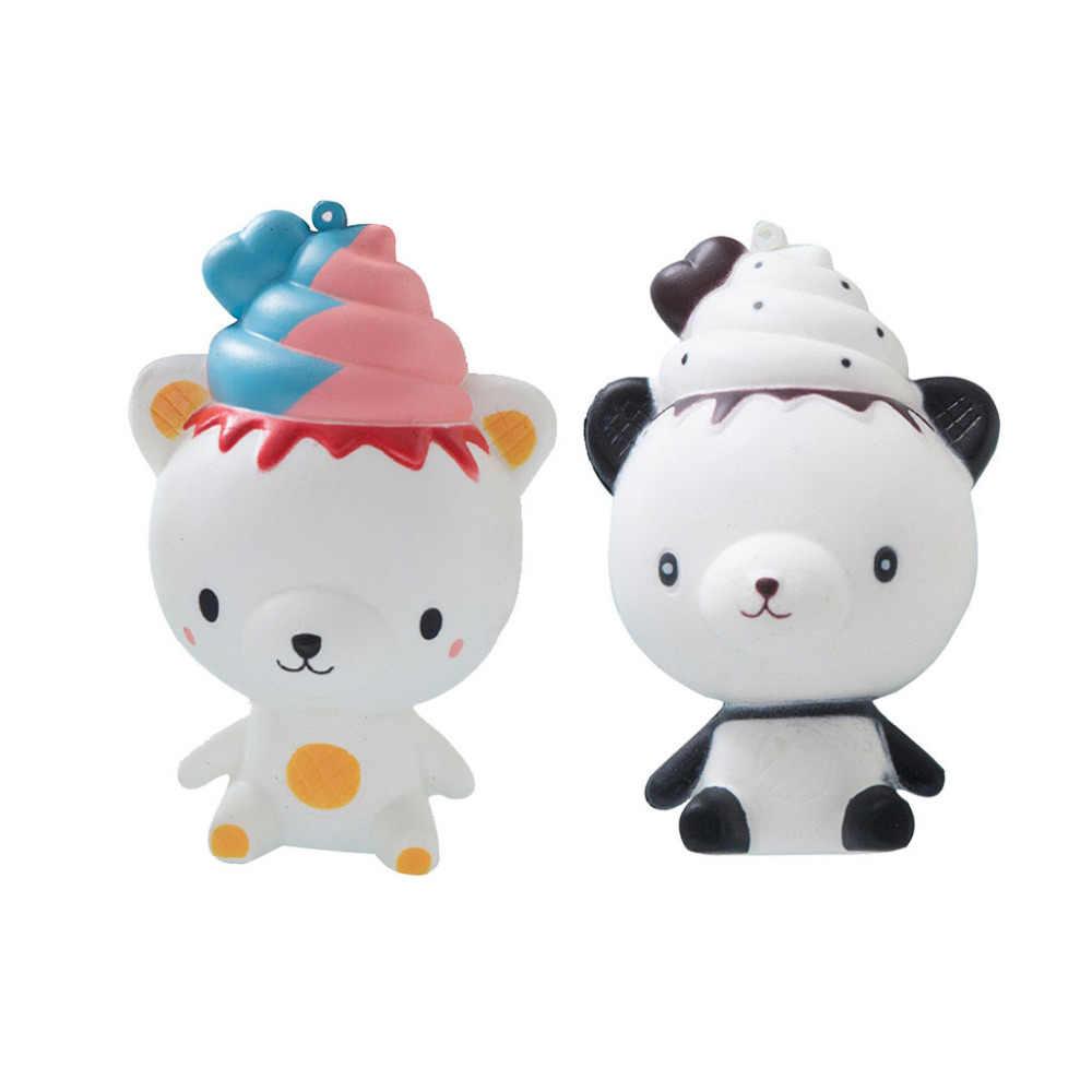 Изысканный Забавный Q Poo Panda ароматизированный кальшиес Шарм медленно поднимающийся 14 см Моделирование 3,15