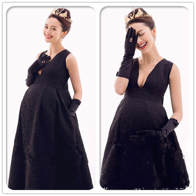 New Maternity Cloth Long Pregnancy Dresses Evening Party Dress ...