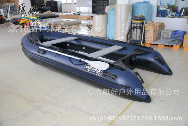 US $1580 0 |Assault / dinghy thickening / 330 hard bottom 4/6 person /  fishing boat / inflatable boat inflatable boat-in Rowing Boats from Sports  &