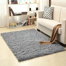 цена на Washable Shaggy Floor Rug Plain Soft Area Mat Thickn Non-slip Rug for Living Room Tea Table Yoga Carpet