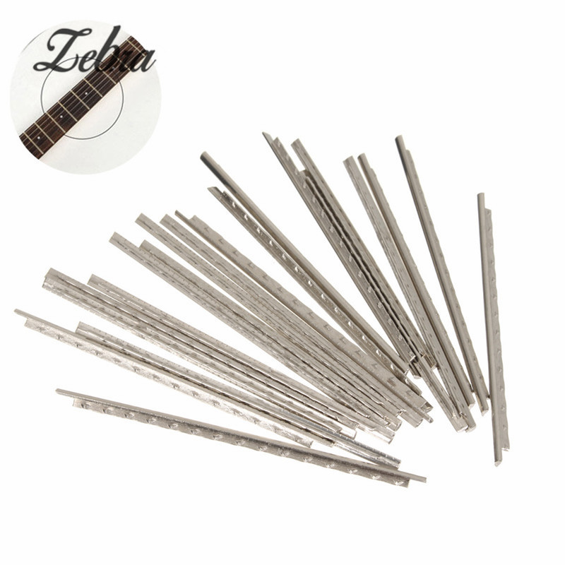 Zebra Silver 24pcs 60mm Guitar Fret Wire Nickel Gauge / Fretwire Tool For Guitar Ukulele Musical Instruments Parts Accessories