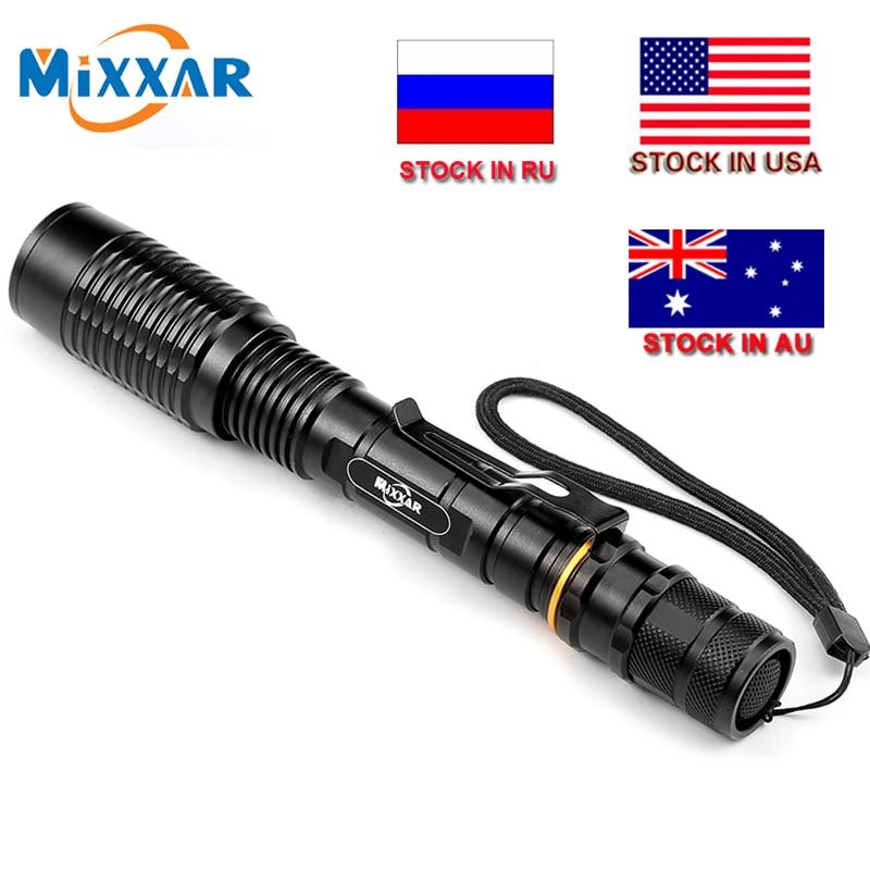 ZK20 LED El Feneri V5 T6 8000LM 5-Modes Yakınlaştırma dropshipping Torch taktik fenerler Lamba iki 18650 pil ile kullanılabilir