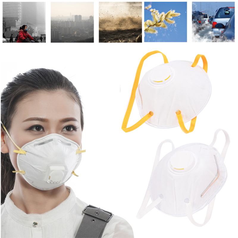5Pcs Gas Mask Anti-Dust Mask Breathable Activated Carbon Cup Mask Head Respirator Hiking Bicycle Bike Mask