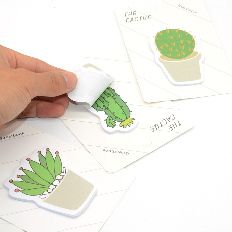 Cactus Kawaii <font><b>Cute</b></font> <font><b>Sticky</b></font> Notes Cartoleria Notepad Note Papeleria Creativa Notas Adhesivas School Briefpapier <font><b>Tabs</b></font> Page Flags image