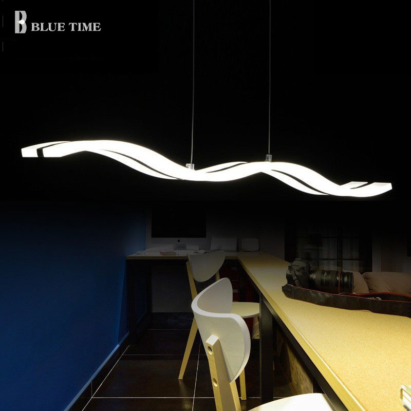 Large Modern Led Pendant Light For Dining Room Kitchen Living Room Hanging Lamp 97cm 38w Acrylic Pendant Lamp Ceiling Fixtures