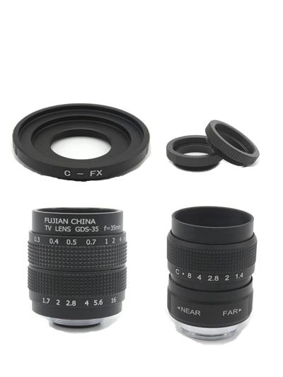 2 en 1 25mm CCTV + 35mm Kit F1.7 Moniteur de VIDÉOSURVEILLANCE lentille Film lentille pour Fuji Fujifilm X-E2 X-E1 X-Pro1 X-M1 X-A3 X-A2 X-A1 X-T1 C-FX