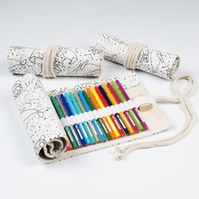Pencil-Case Gift Creative Pouch Storage-Supplies Cosmetic-Brush Makeup Cute New Bag Box-Roll
