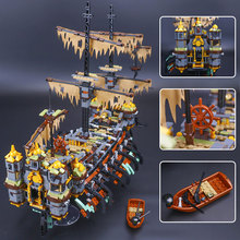 Pirate Ship Building Blocks Lepin 16042 The Silent Mary Set Compatible LegoING 71042 Model for Children