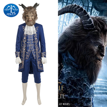 ManLuYunXiao Beauty And The Beast Prince Men Movie Cosplay Embroidery Pattern Costume Halloween Costumes Mask