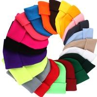 2017 Knitted Winter Hats for Men Autumn Women Warm Skullies Beanie Casual Solid Color Hats & Caps Men Beanies Head Wear