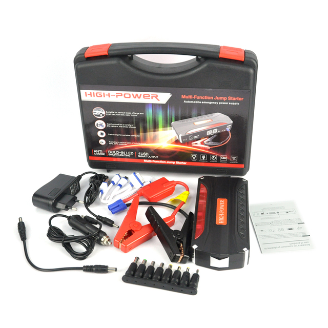 68800mAh Portable Led Headlamp USB Power Bank For 12V AUTO Car Jump Starter Rechargeable Battery with carry box ( Full Set )