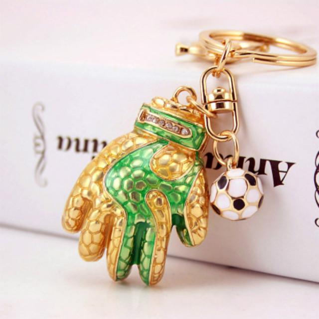 Творческий сплав с Кристальный футбол Прихватки для мангала брелки футбол сувенирный вентилятор любит подарок унисекс Высокое качество 1 шт