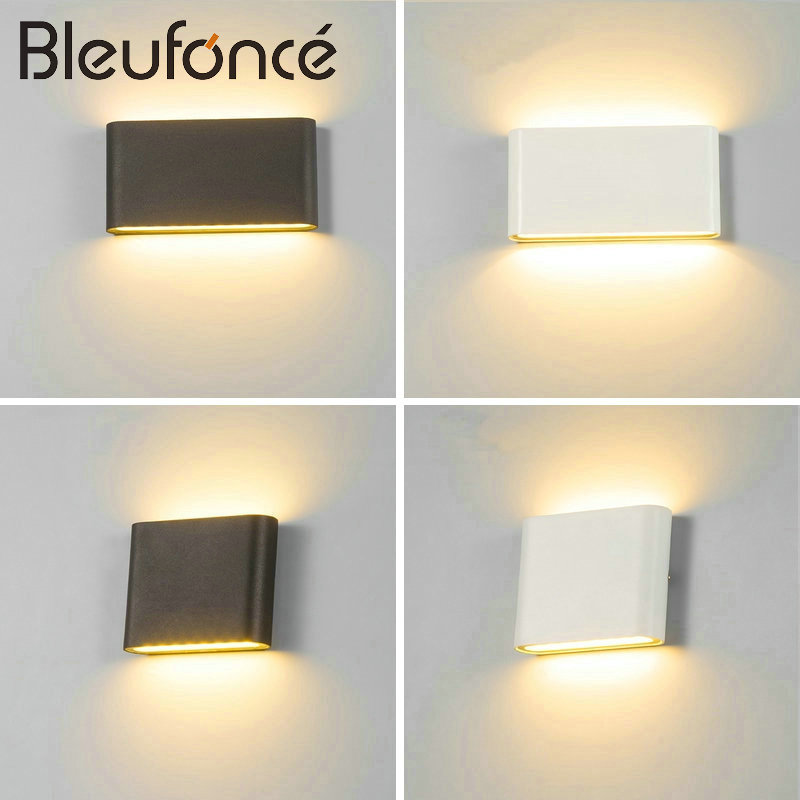 Outdoor Waterproof Wall Lamp IP65 6W/12W LED COB Wall Light Indoor Decoration <font><b>Sconce</b></font> Bedroom Beside Corridor Garden Lighting
