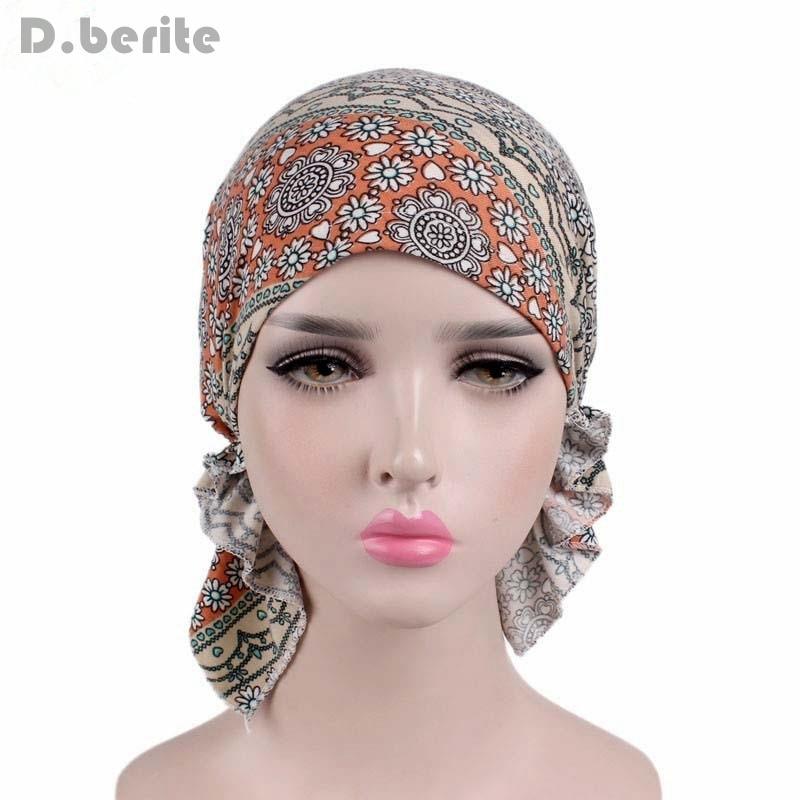 Fashion Design Women Muslim Stretch Turban Hat Chemo Bonnet Hair Loss Cancer  Head Scarf Wrap Hijib Cap QDD9339. В избранное. gallery image ea7b5917b49