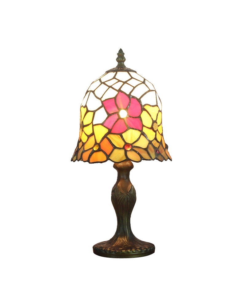 Small table lamps - Dhl Free Shipping Table Lamps Tiffany Style Small Sunflower Stained Glass Desk Light Fixture Mediterranean Sea