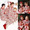 Мода Детские Пижамы Onesie Набор Две Пьесы для Детей Дети Рождество Пижамы рождество пижамы для семьи соответствующие наряды набор