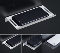 304 Stainless Steel Single Storage Shelf Mobile Phone Remote Control Holder Rack Wall Mount