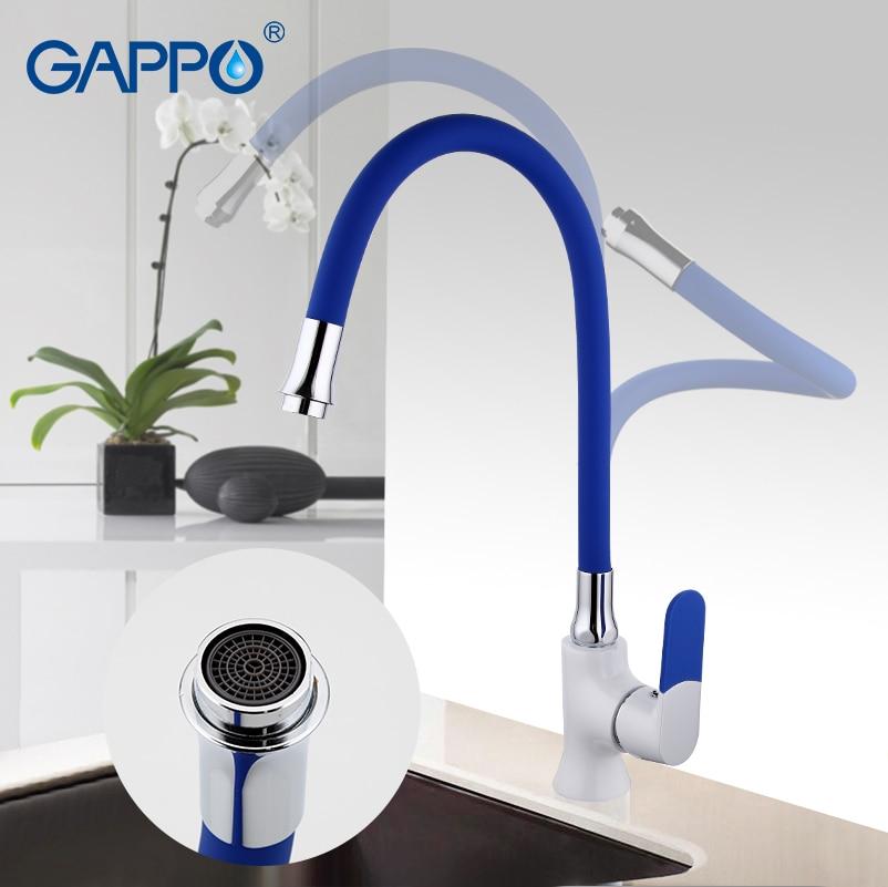 GAPPO cuisine évier robinet en laiton de cuisine robinet mélangeur d'eau robinet seul trou cuisine mitigeur mitigeur seule poignée G4034D