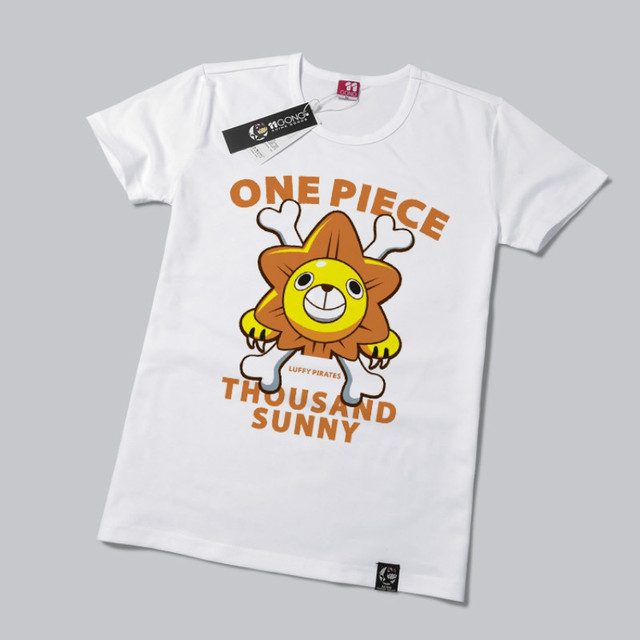 One Piece T Shirt Monkey D. Luffy Pirate Thousand Sunny Anime T Shirts Cotton O-neck Short Sleeve New 2 Color
