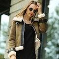 Veri Gude Faux Leather Jacket Faux Fur Short Coat Winter Jacket Women Suede Coat and Trendy Fur Coat Slim Female Motorcycle
