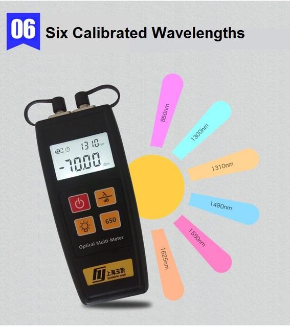 Mini fibra Óptica Multi-metro Localizador Visual 1 mw y Medidor de Potencia Óptica (-70 ~ $ number dbm)