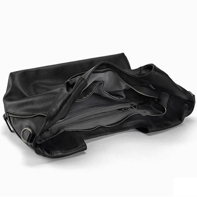 100% couro genuíno bolsas hobo Size : Comprimento: 34.5cm, Width: 13cm, High: 24.5cm