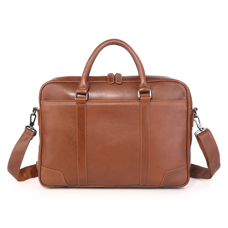 Nesitu Brown Black Genuine Leather Men Messenger Bag Office Male Briefcase Portfolio 14'' Laptop Business Travel Bags M7349