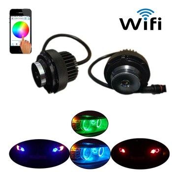 New Wifi Control Led Marker Angel Eyes For Bmw E60 E61 5 Series Daytime Running Light DRL Fog Headlights For Bmw