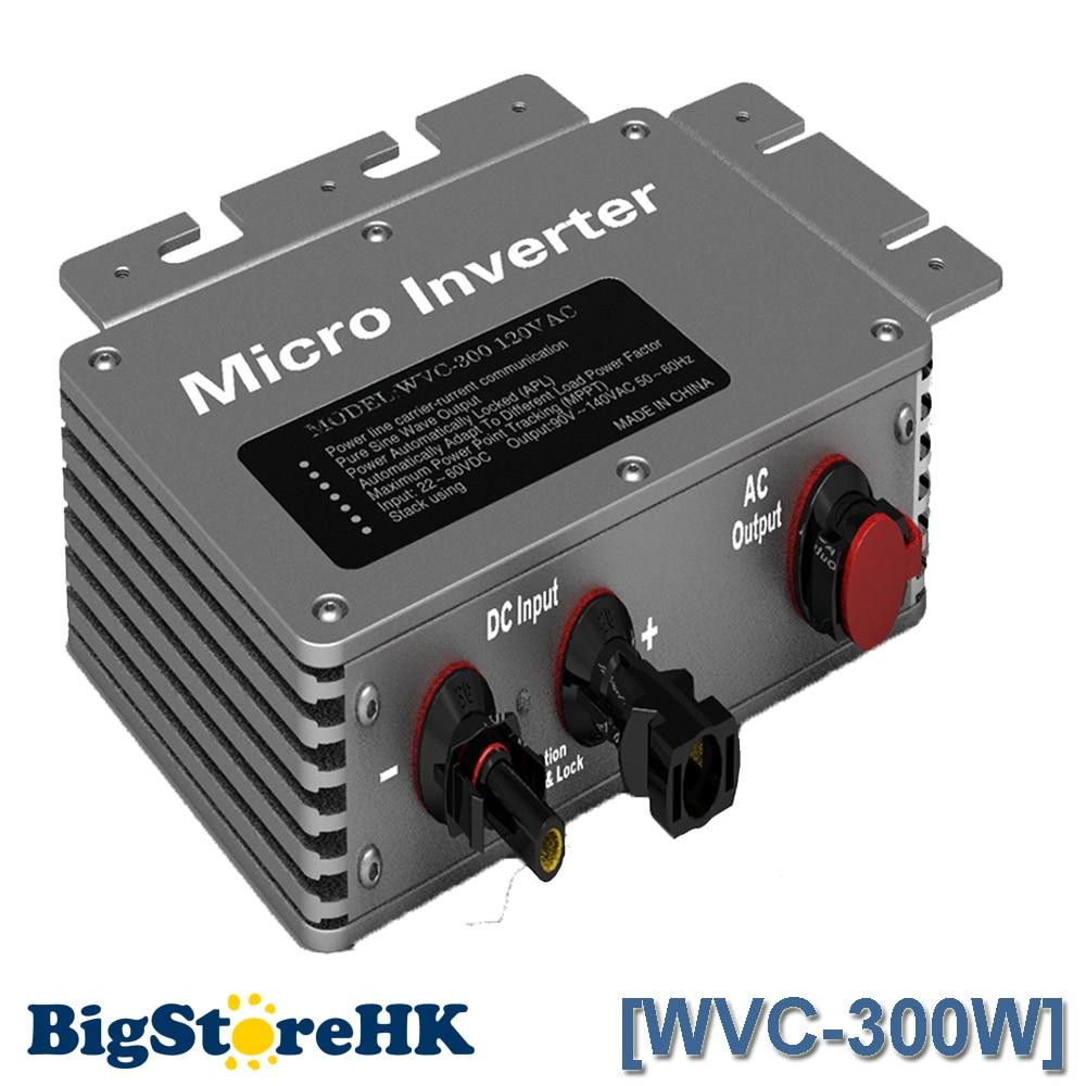 300W 110V Proofwater Micro Inverter Solar Grid System 22-50VDC RS232 Communication MPPT Maximum Power Point Tracking Function цены