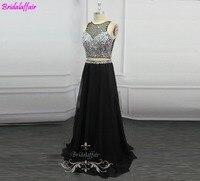 2019 Black 2 piece Prom Dress Beaded Sequins Women Evening dress vestidos de gala dress long prom