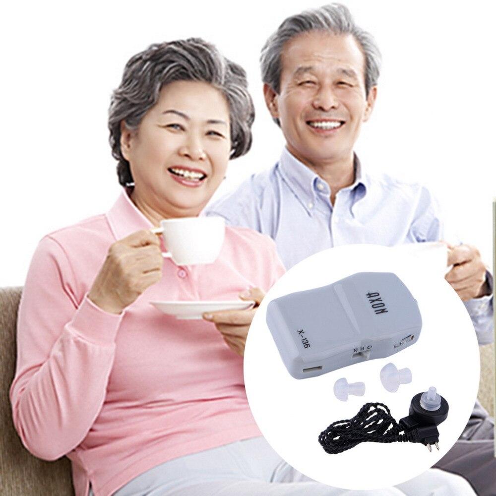 2017 Nuevo Mejor Sonido audífono amplificador de ayuda ajustable tono en el oído para los ancianos audífonos dispositivo Digital cuidado