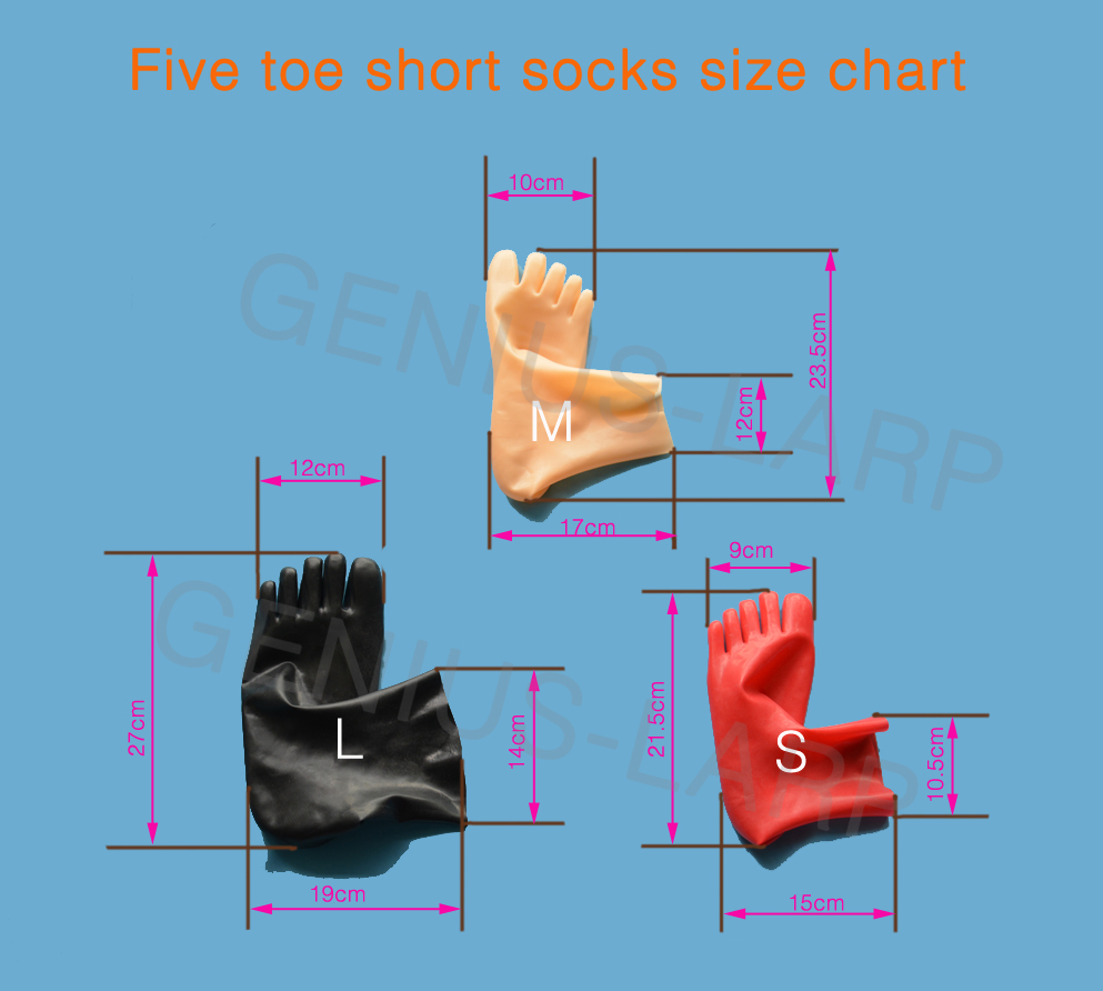 3D socks size