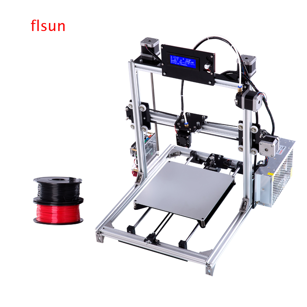 aluminium prusa i3 3d printer large printing size high precision sliver 3d printer kit with heated bed two rolls filament - Rolling Bed Frame