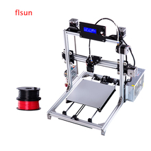 Aluminium Prusa I3 3D Printer Large printing size High Precision sliver 3d-Printer Kit With Heated Bed Two Rolls Filament