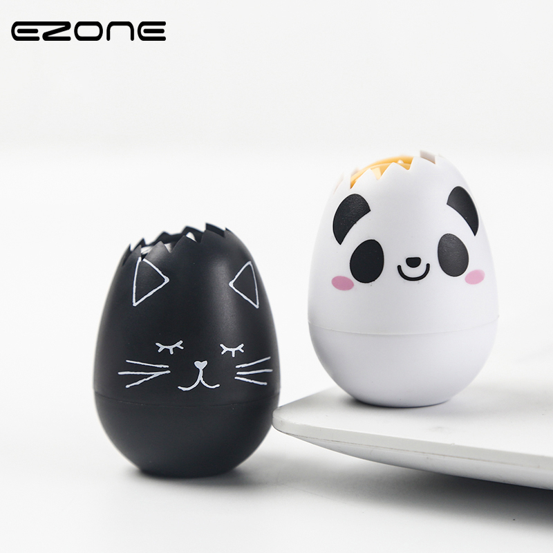 EZONE 1PC Novelty Panda Egg Press Type Decorative Correction Tape Creative Diary Stationery School Office Supply Student Gifts