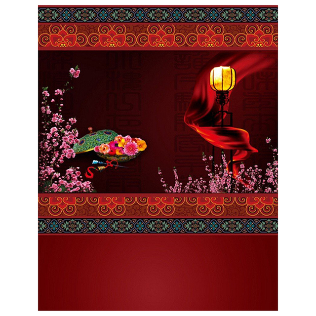 3x5ft vinyl red chinese lunar new year spring festival theme party wall decorations mural photography backgrounds