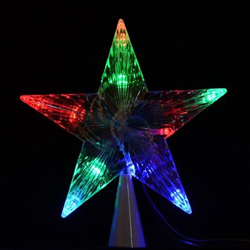 Large Christmas Tree Topper Star Lights Lamp Multi Color Decoration 100-240V  LB88