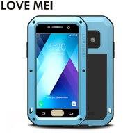 For Samsung Galaxy A3 2017 A320F Case A5 2017 SM A520F Cover LOVE MEI TPU Hard