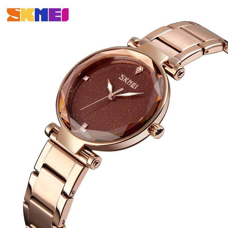 SKMEI Brand Luxury Quartz Women Watches Elegant Ladies Watch Simple Casual Stainless Steel Womens Wrist Watches Relogio Feminino essential hot relogio feminino clock womens elegant minimalism rhinestone crystal stainless steel wrist watch feb17