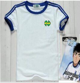 Rozmiar azjatycki! Koszule Camiseta oliver atom equipe de Japan francja koszulki kapitana tsubasy piłka nożna atom bawełna białe ubrania męskie tanie i dobre opinie YSMILE Y COTTON Poliester Modalne Krótki V-neck Otwórz stitch REGULAR #752 soccer Suknem Na co dzień Stałe