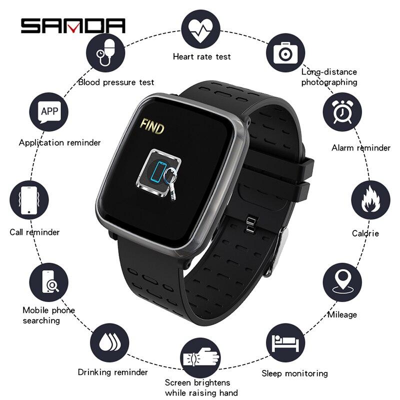 SANDA K02 femmes vie intelligente Assistant rappel d'appel montres numériques réponse appel moniteur de fréquence cardiaque pression artérielle oxygène