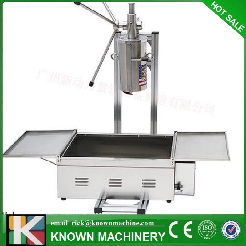 Free Shipping Stainless steel 5L Manual Spanish Donut Churros filling machine with fine frying oven commercial stainless steel churro machine 25l electric fryer manual spanish churros maker 4 nozzles
