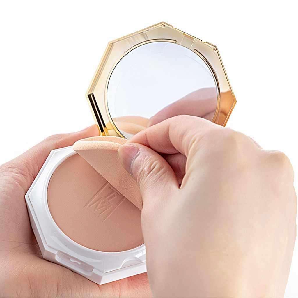 Feminino rosto fundação corretivo hidratante poros iluminar óleo controlado maquiagem duradoura corretivo pó branco # zer