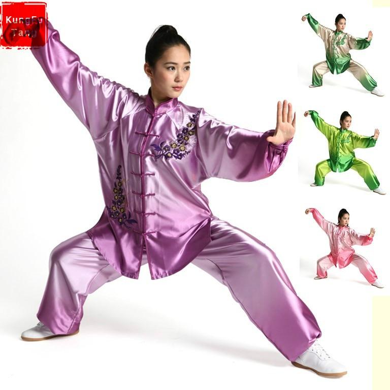 купить KungFuTang Tai chi clothing embroidery wushu clothes graded Taijiquan practice costumes martial arts suit Kungfu uniforms female недорого