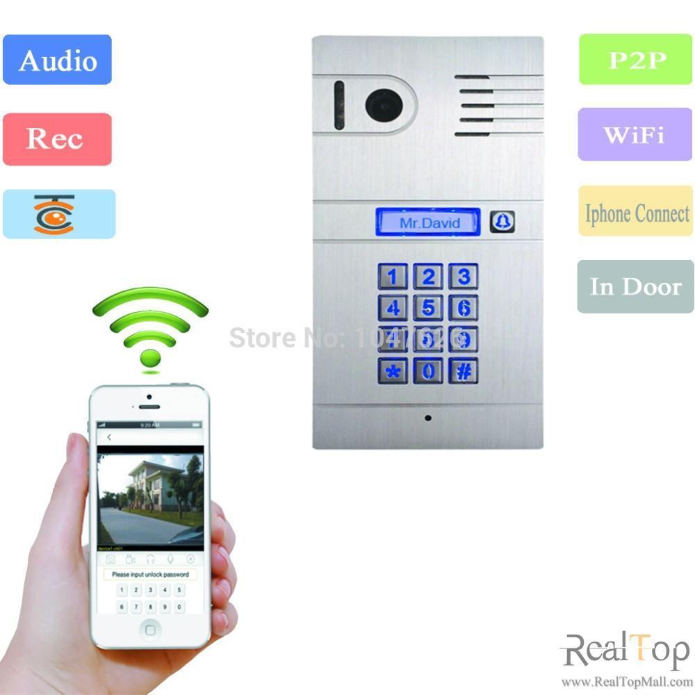 Interphone IP sans fil système de portier vidéo porte d'accès à la maison porte ouverte télécommande caméra sonnette