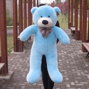 47 Blue Color 1.2M Giant Size Plush Teddy Bear Toy Doll Bear Gift New Arrived Teddy Bear Plush Toy Factory Supply прогулочная коляска teddy bear sl 106 blue owl