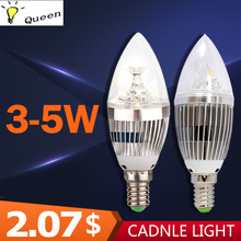 High-brightness Light-emitting Diodes Led Bulbs E14 LED Candle Light AC 220V Led Lamp Indoor Lighting 5W Edison Bulb Spotlight