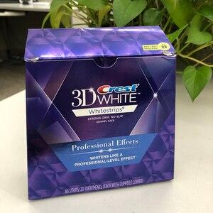 Image 5 - VIP 3D לבן Whitestrips שיניים הלבנת ערכת היגיינת פה אפקטים מקצועיים שיניים מוצרי טיפוח מקורי 40 רצועות 20 פאוץ